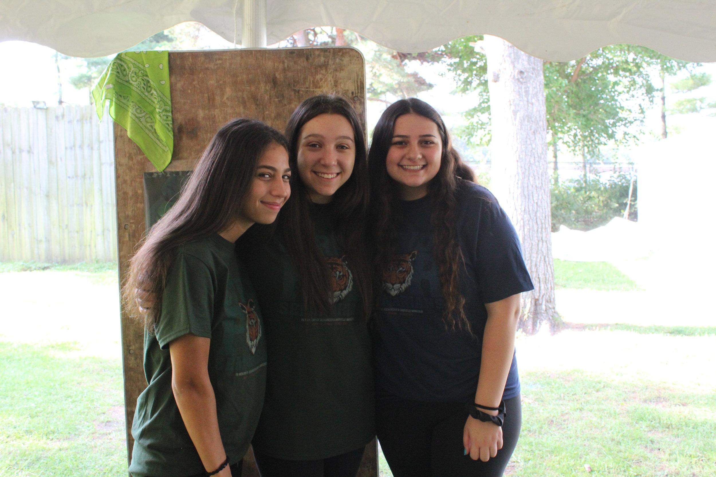 Hannah Konja, Madison Kajy, and Lana Kinaya