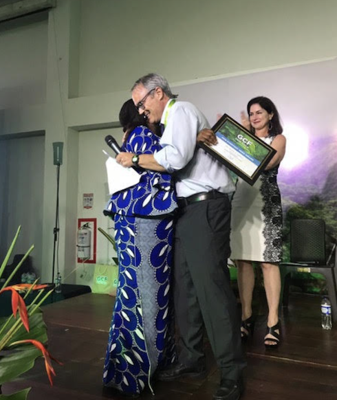 William Boyd (Project Lead, GCF Task Force) and Colleen Scanlan Lyons (Project Director, GCF Task Force) congratulate Dr. Alice Ekwu for her outstanding achievements.