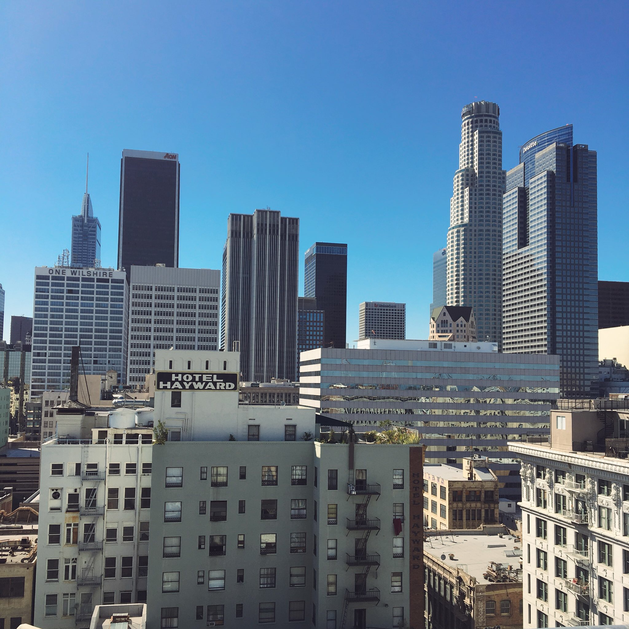 I stayed in an amazing loft I found on AirBnB in the heart of downtown Los Angeles.