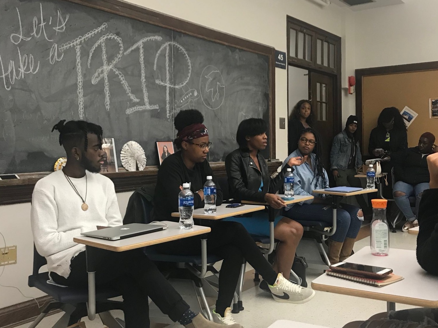 "Panelist on the ""Let's Take A Trip"" Panel For First-Generation Black Travelers at Howard University"