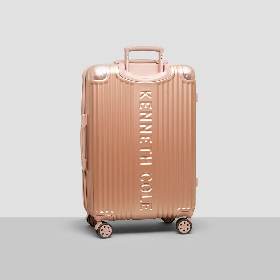 Fourth Stop - Express Yourself! - I may have snagged a new suitcase for the occasion. It's important to make sure you have something to carry it all in. Rose Gold is my everything!