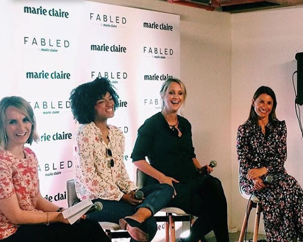Nikki introducing a room to their Electric Woman at an event on Vitality and Wellbeing for Marie Claire's Womankind series in 2018.