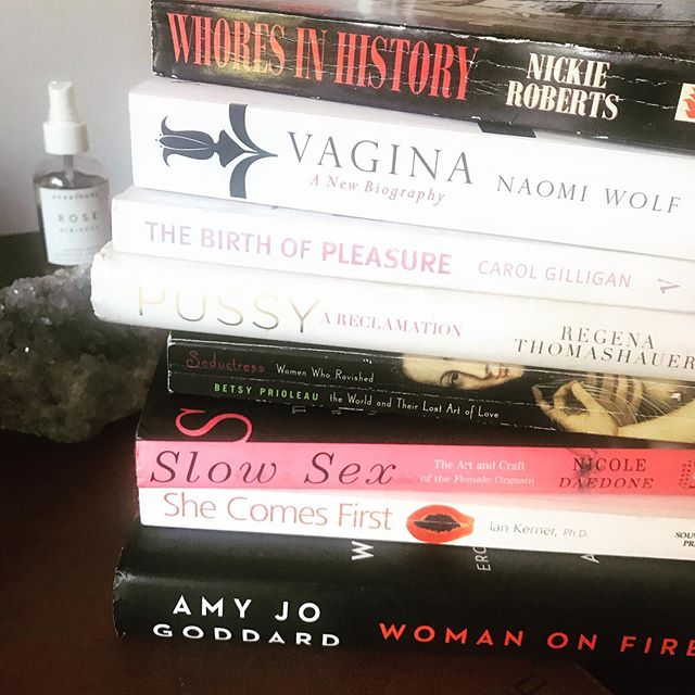 Getting prepped with our fave books on female sexual pleasure in the lead up to our workshop - 'Sovereignty and Seduction' here in London. To empower a woman to release shame around her body, in her sex and get her in touch with her radiance is life changing work and the results are profound. We still have a spot free if you'd like to join us! Dm me for details! ✨⚡️✨ link in bio