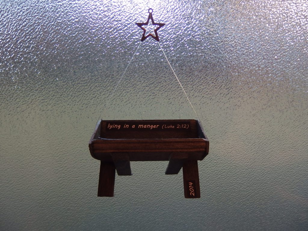"""2014 """"Lying in a Manger"""" ornament"""