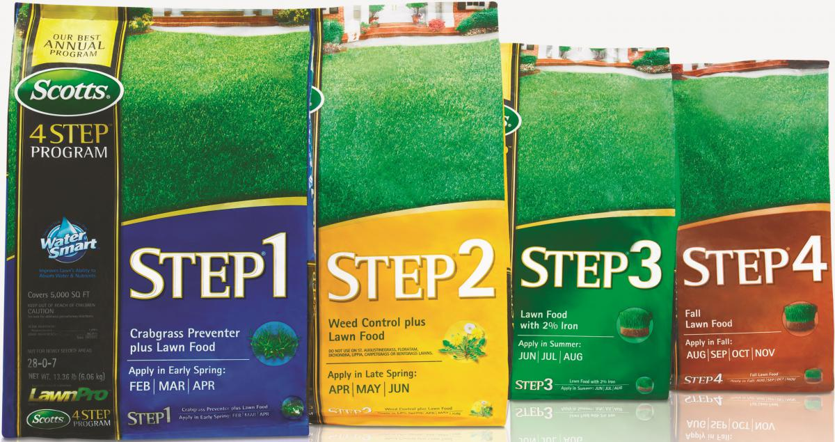 For lawn-loving Do-It-Yourselfers, Scotts 4-Step program