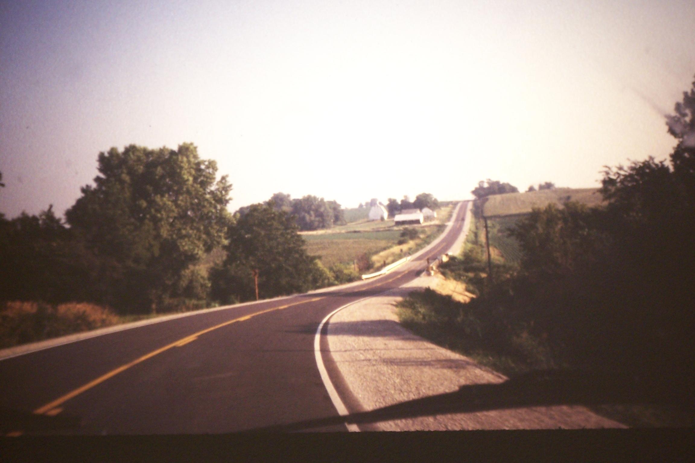 """""""Pathlike"""" road in Iowa, 1997"""