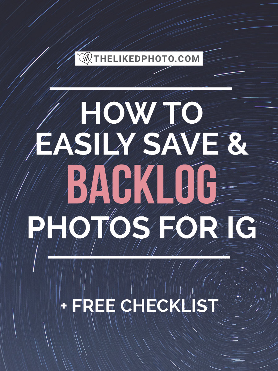 Never run out of photos to post! Backlog your photos with dropbox to keep a constant supply and backup!