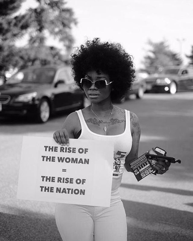 The rise of the woman = the rise of the nation. We have a similar manifesto on one of our new shirts 👀 #onwardtogether #eleven5shop Image by Devin Allen.