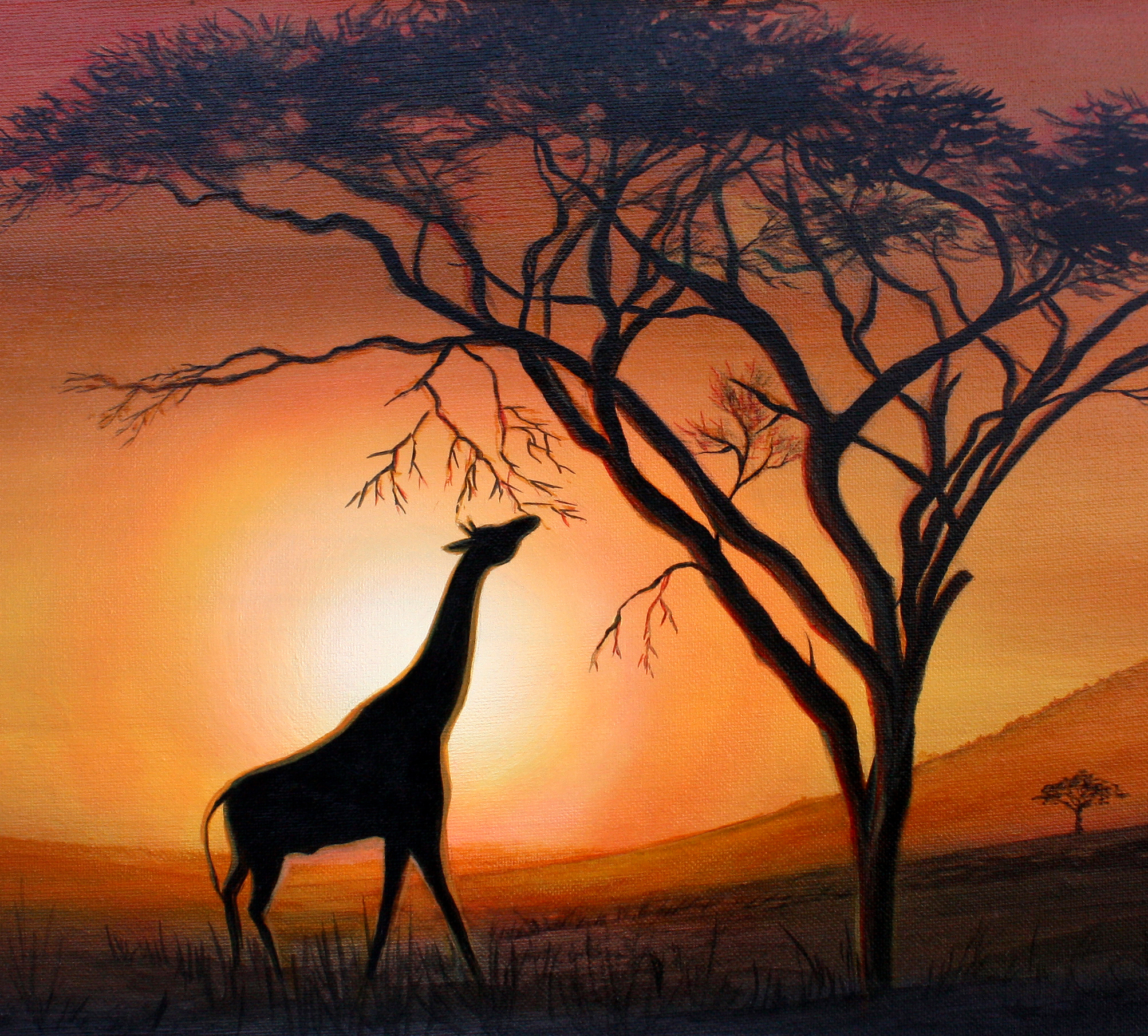 SERENGETI SILHOUETTE -  Silent Auction,   Stand for Education 2016