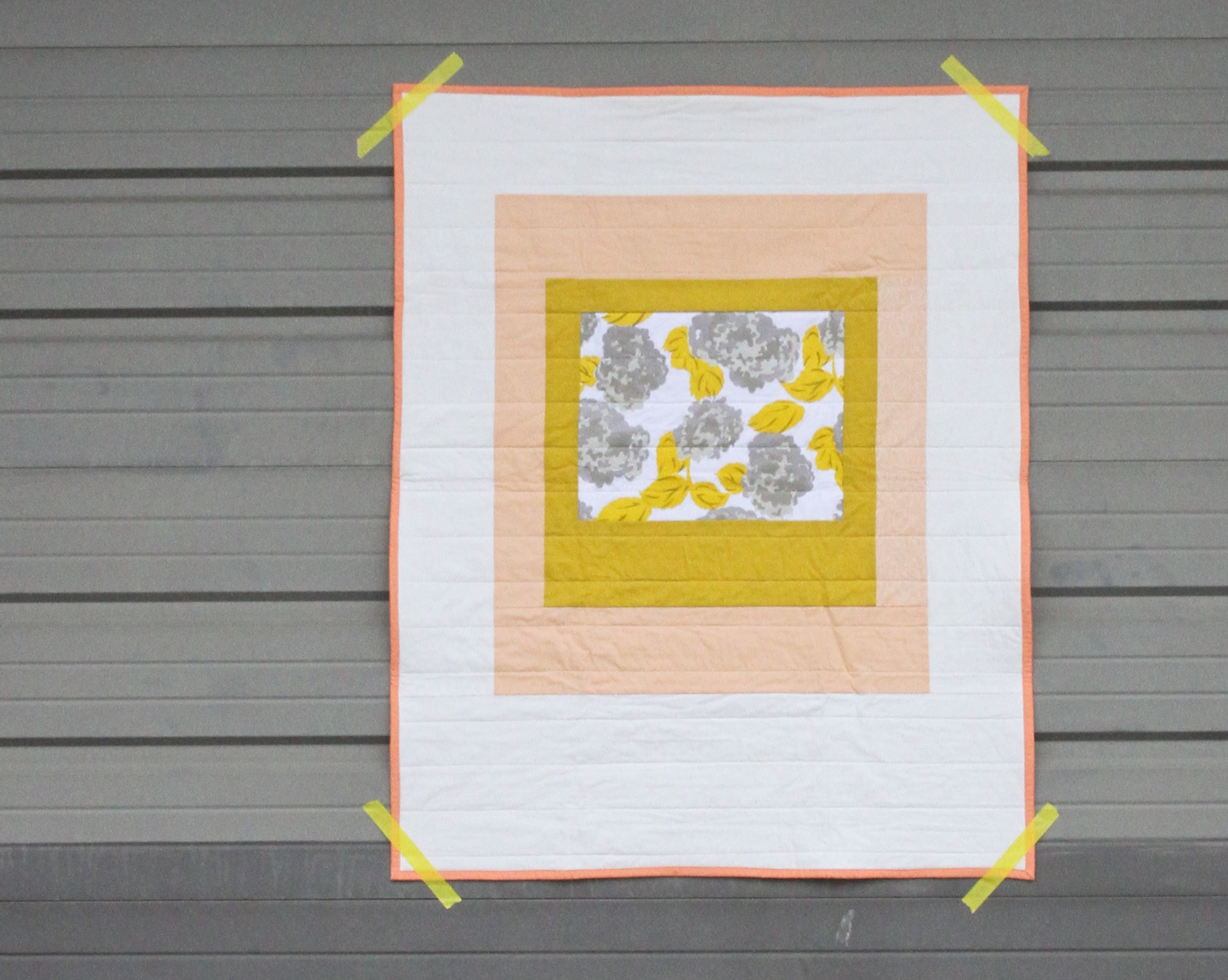 Modern Courthouse Baby Quilt 2 by Kelsey Boes