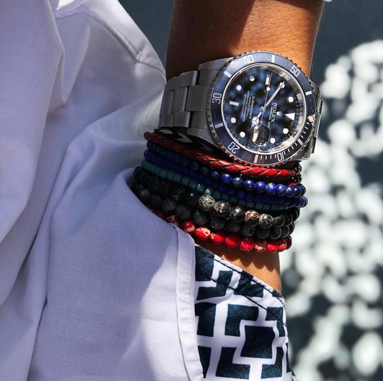 Rolex Submariner x Baxter&Baxter  Deep Blue 4mm ,  Red Sea 6mm  &  Black Sea 6mm Bracelets
