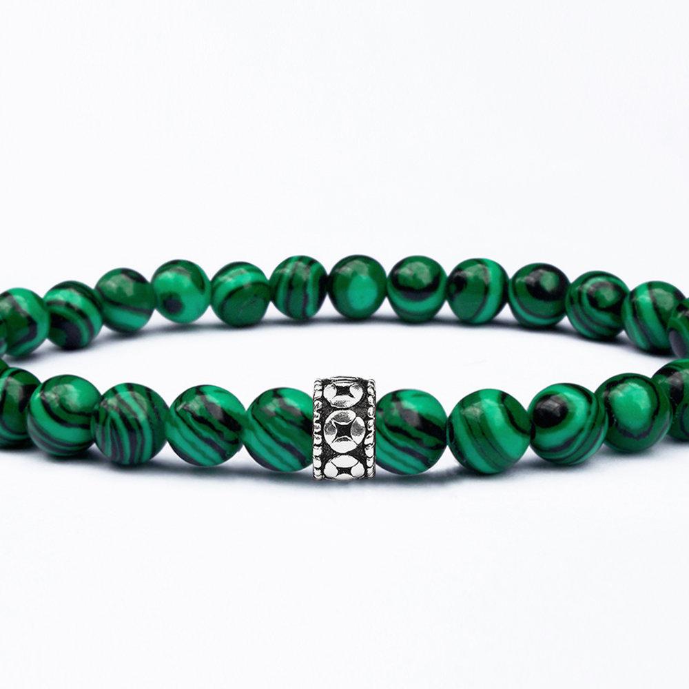 Men Jewelry 6mm beaded bracelet Blue Malachite 6mm Blue Malachite Bracelet Unisex Bracelet Gemstone Bracelet Men bracelet