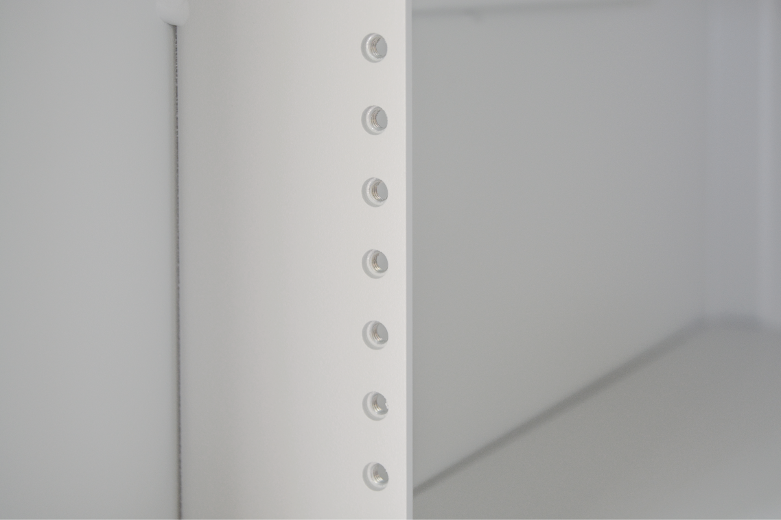 """Room for 11 standard 19"""" 1u rackmounts using 10-32 mount points. Mount your switches, routers, POE controllers, servers, and there's still room for more."""