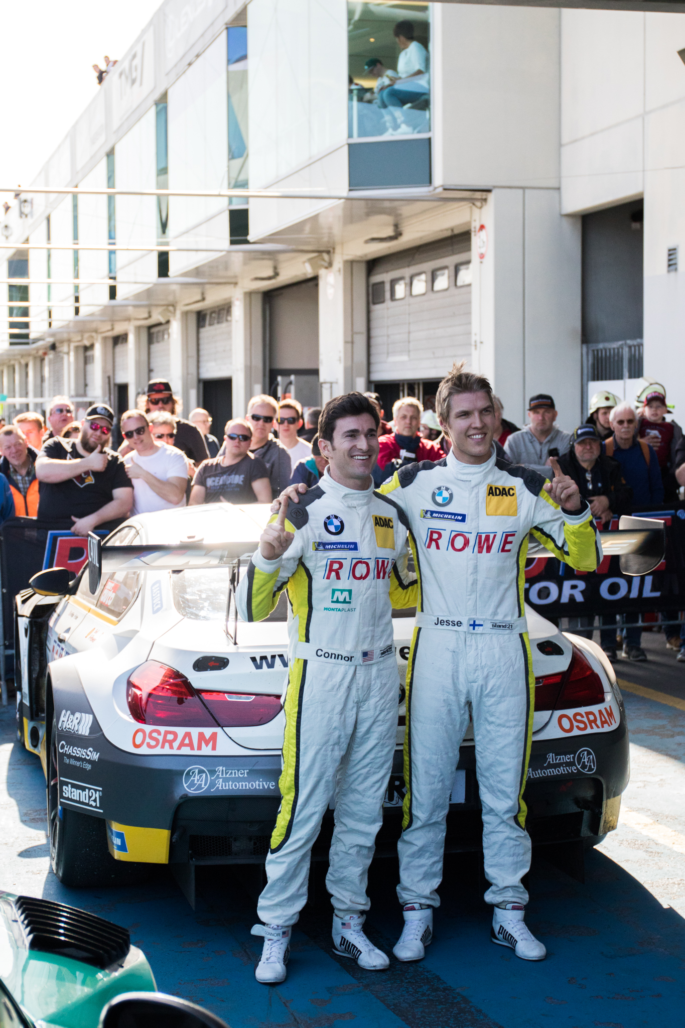 It was a first victory for Jesse Krohn and Connor De Phillippi of 2018 season with Rowe Racing BMW M6 GT3