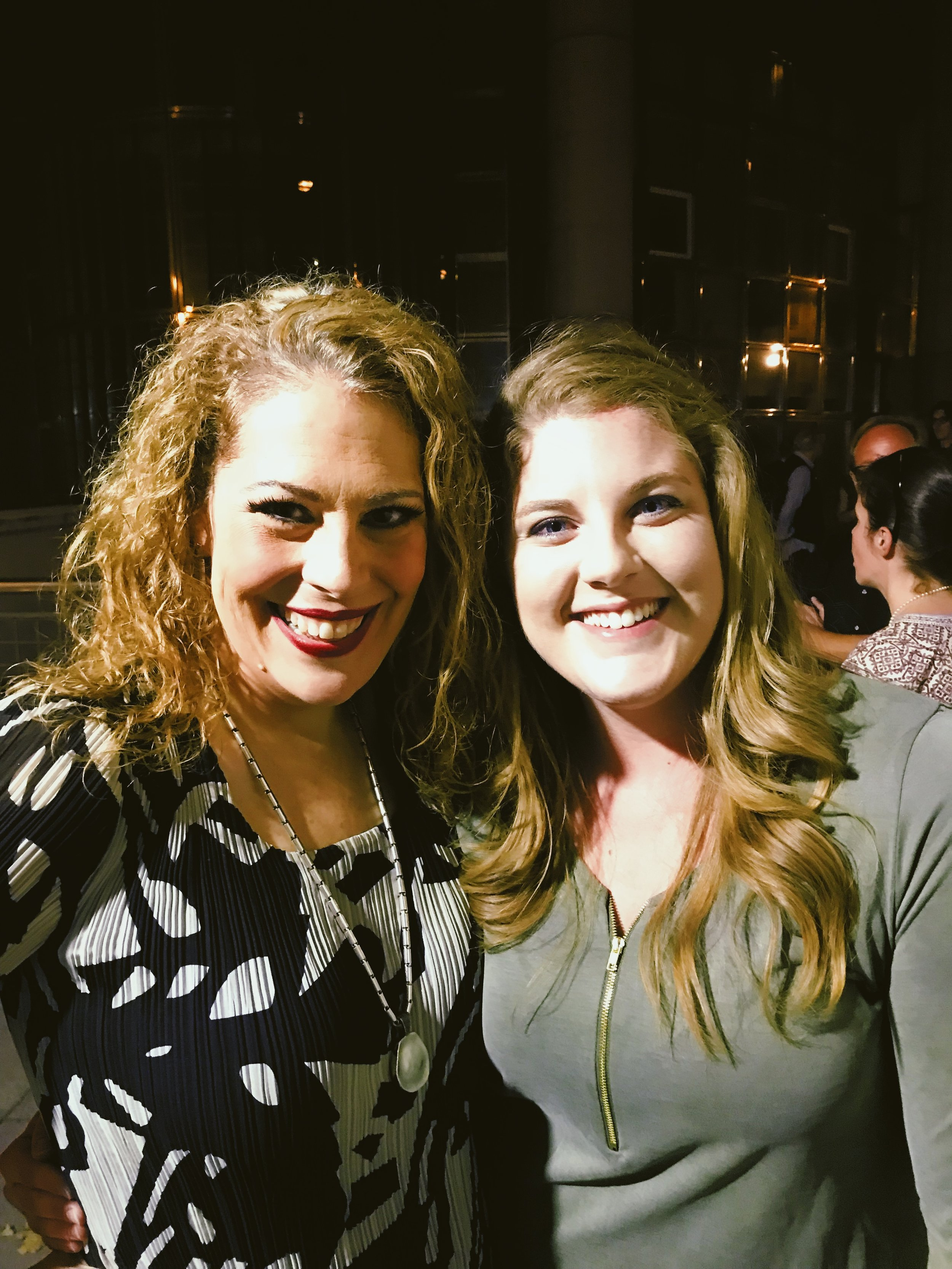 Sondra and I after the show. She is a gem.