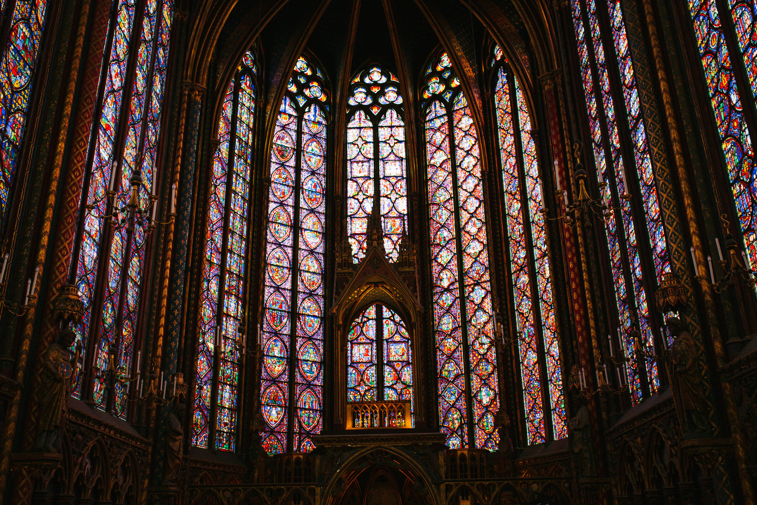 Sainte- Chapelle. Gorgeous.