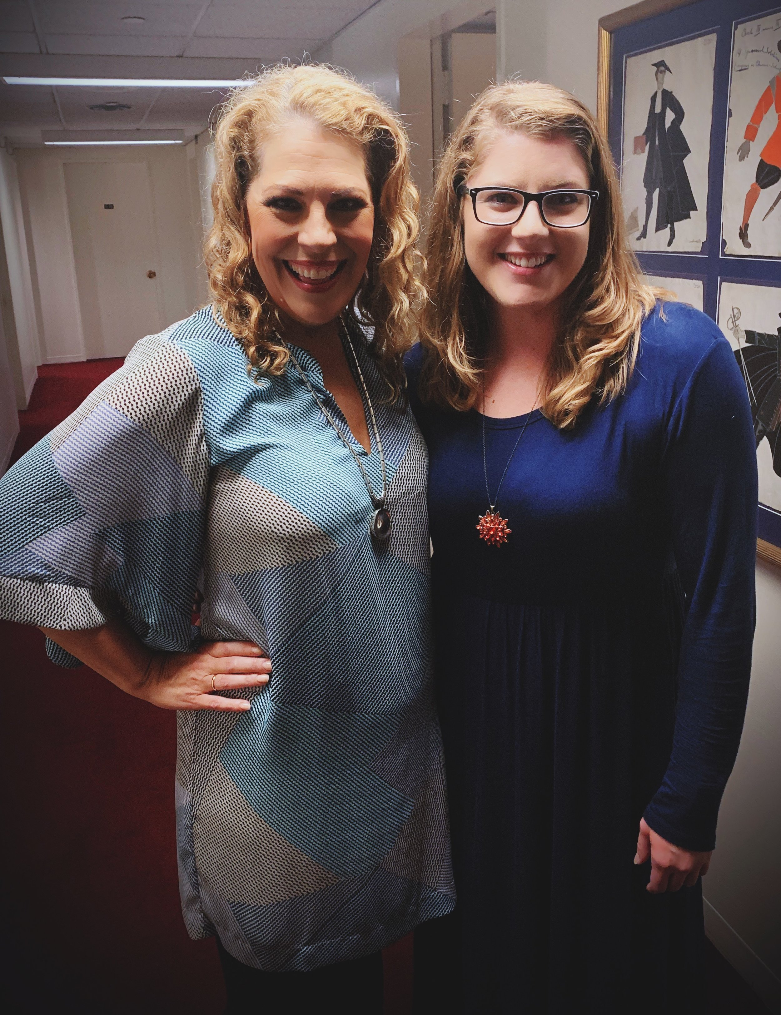 Backstage with Sondra
