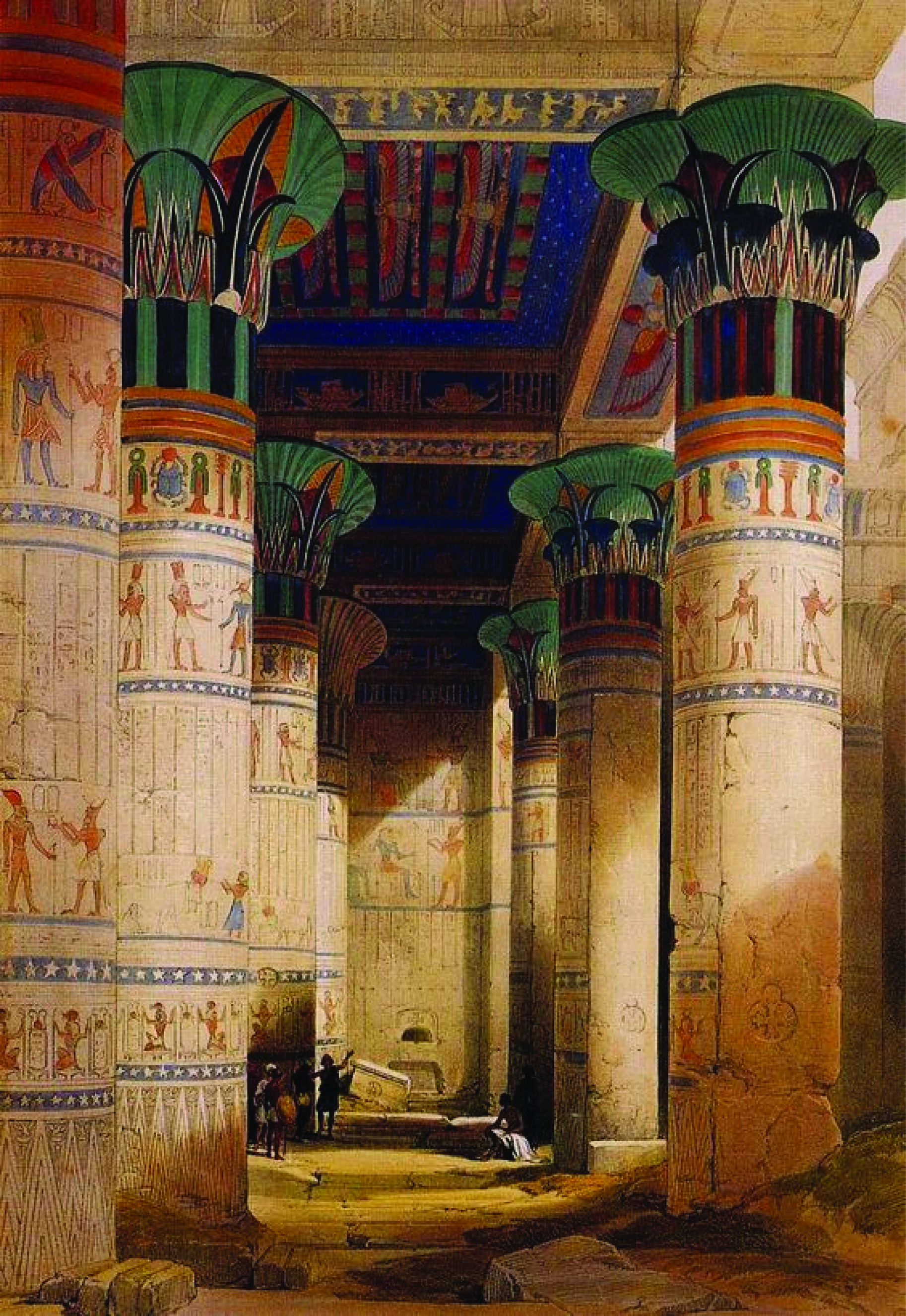Research for World Building, Figure 2: Columns in the hall of the Isis temple built under Ptolemy VI [4]