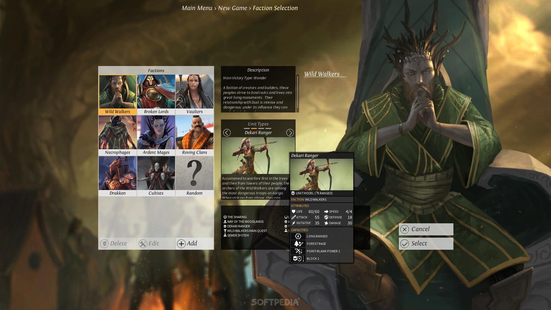 Faction Screen in  Endless Legend.