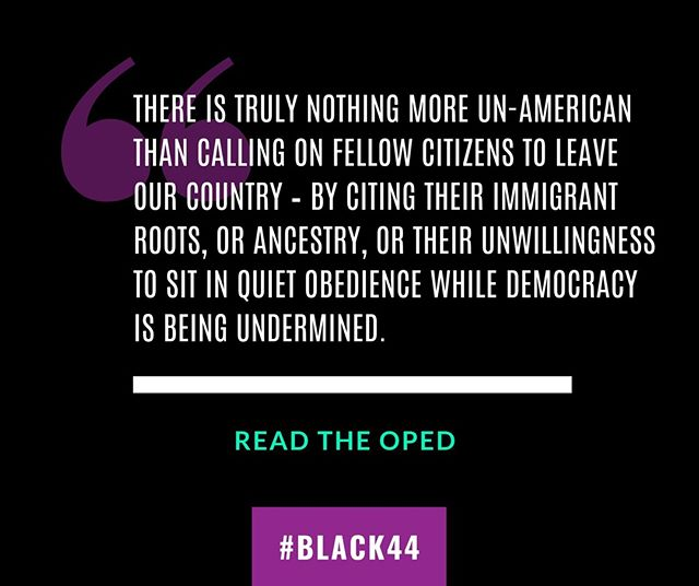 """We plan to leave this country better than we found it. This is our home."" I'm proud to stand with 147 other #Obama alums and those under stack in our recent op-ed in the @WashingtonPost - https://buff.ly/2K5gW5k #WearePatriots #Black44"