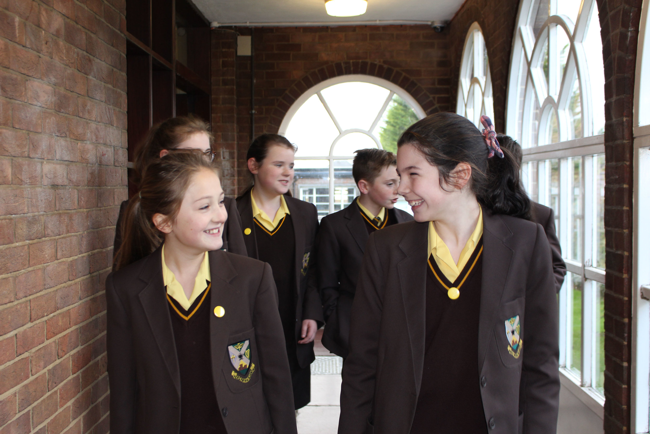 Pupils in School Uniform