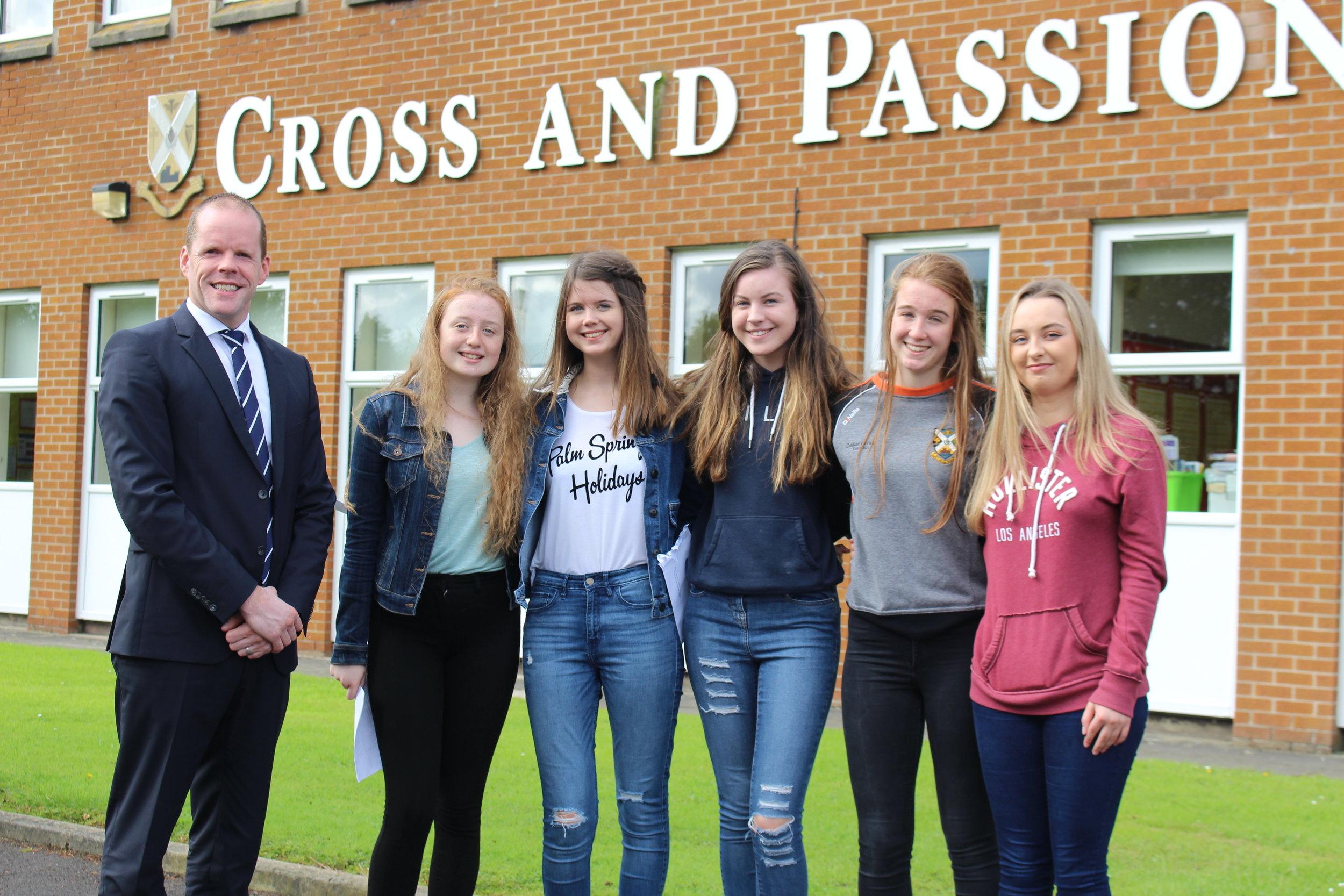 Mr Paul McClean, Molly McAlonan 10 A* 1 A, Lucy McCaughan 11 A*, Zoe Lynn 10 A*, Ciara Mathers 11 A*, Clodagh McSorley 10 A*