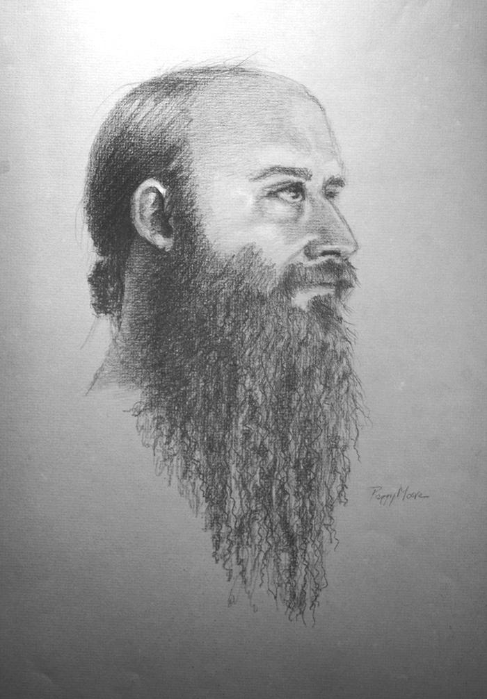 Portrait of Ben  12x17 in Graphite