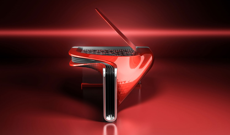 EXXEO-piano_Hybrid-piano_Luxury-piano_Designer-Pinao_Red-Contemporary-Piano_Back.jpg