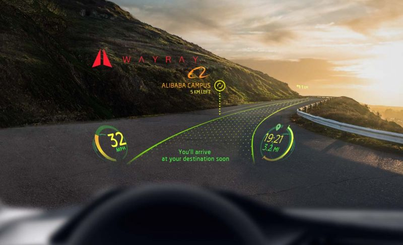"""AR on the Windshield - From aiding in training novice drivers through calculated visualizations to adding markers that paint over street signs to prevent accidents, there exist a myriad of different concepts for interactive windshield displays. Highlighting potential dangers and assisting with roadside navigation are two of the main features that companies are focusing on. Most of the technology is touch-free and is controlled by voice or hand gestures, allowing drivers to focus on the road and simultaneously switch the controls of the AR display they're staring at.Furthermore, companies have explored the entertainment value of these windshield displays. Jaguar conceptualized a """"ghost car"""" visualization that will allow users to race virtual drivers on a real road, competing against real lap times uploaded by other users. Utilizing simultaneous localization and mapping technology combined with vision data gathered by the front-facing camera, the visualizations are placed in the perfect locations on the screen. Similarly, Panasonic's next-generation vehicle display system uses eight cameras to track the driver's head and eyes to update imagery on its augmented reality technology display."""
