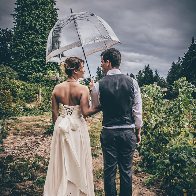 Happy 4th wedding Anniversary @dgloves88 - What a beautiful crazy magical day it was 4 years ago! 🥰☔️🌪 . . I can't imagine going through life with anyone else by my side. So grateful for you each and every day! . . . #weddinganniversary #starlinglanewinery #summerstorm 📸 @ameenijphoto