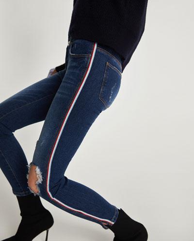Zara Damaged Skinny Jean