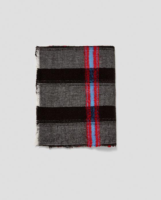 C  heckered Blanket Scarf