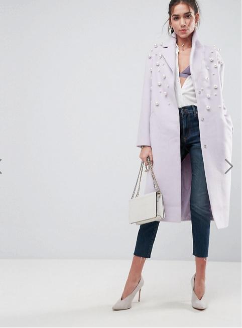 ASOS Soft Pearl Coat