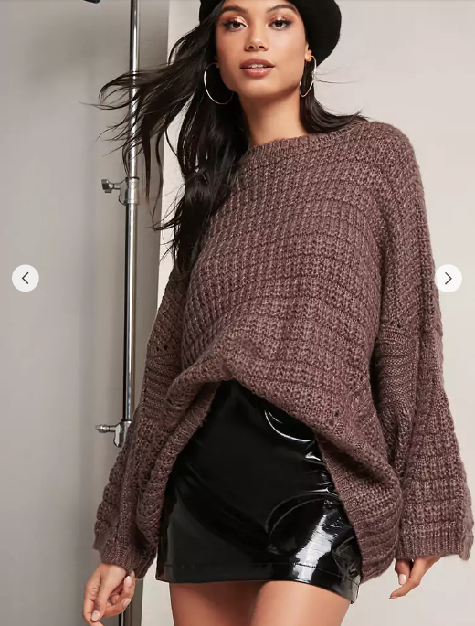 O  versized Rib Knit Sweater