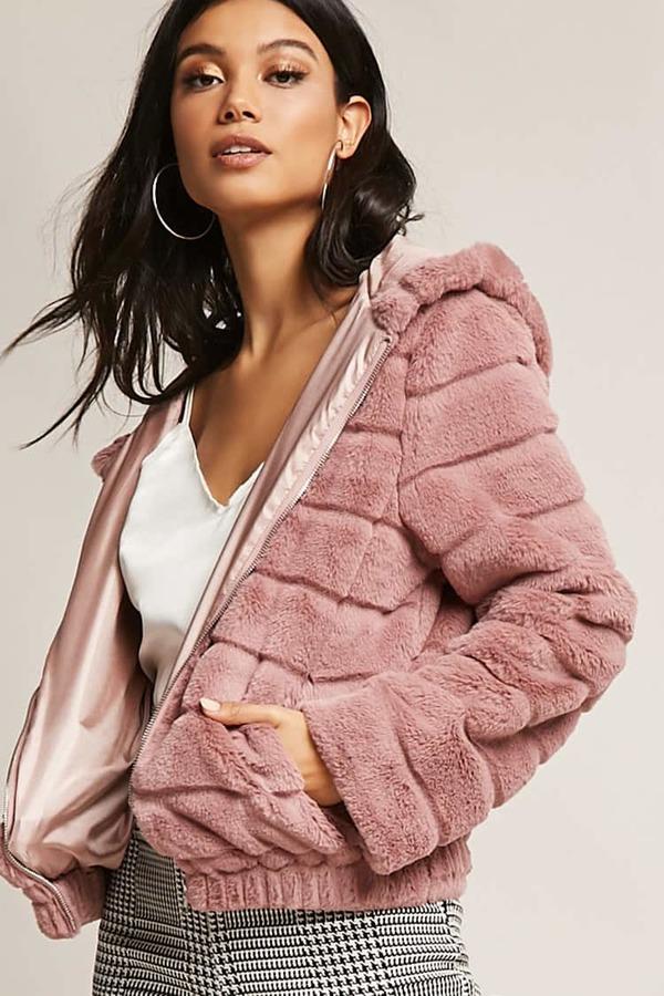 F  aux Fur Puffer Jacket