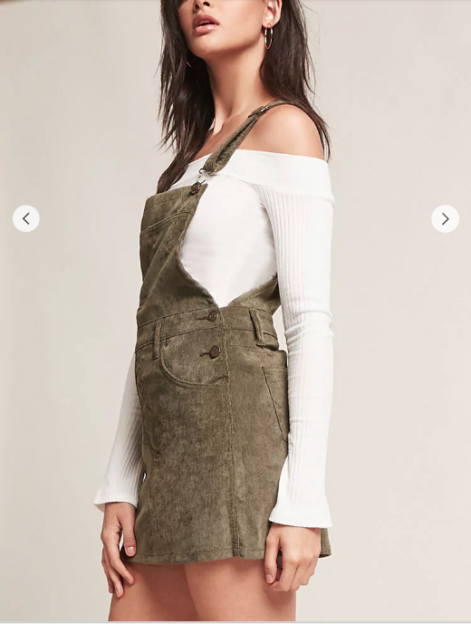 C  ord Overall Dress