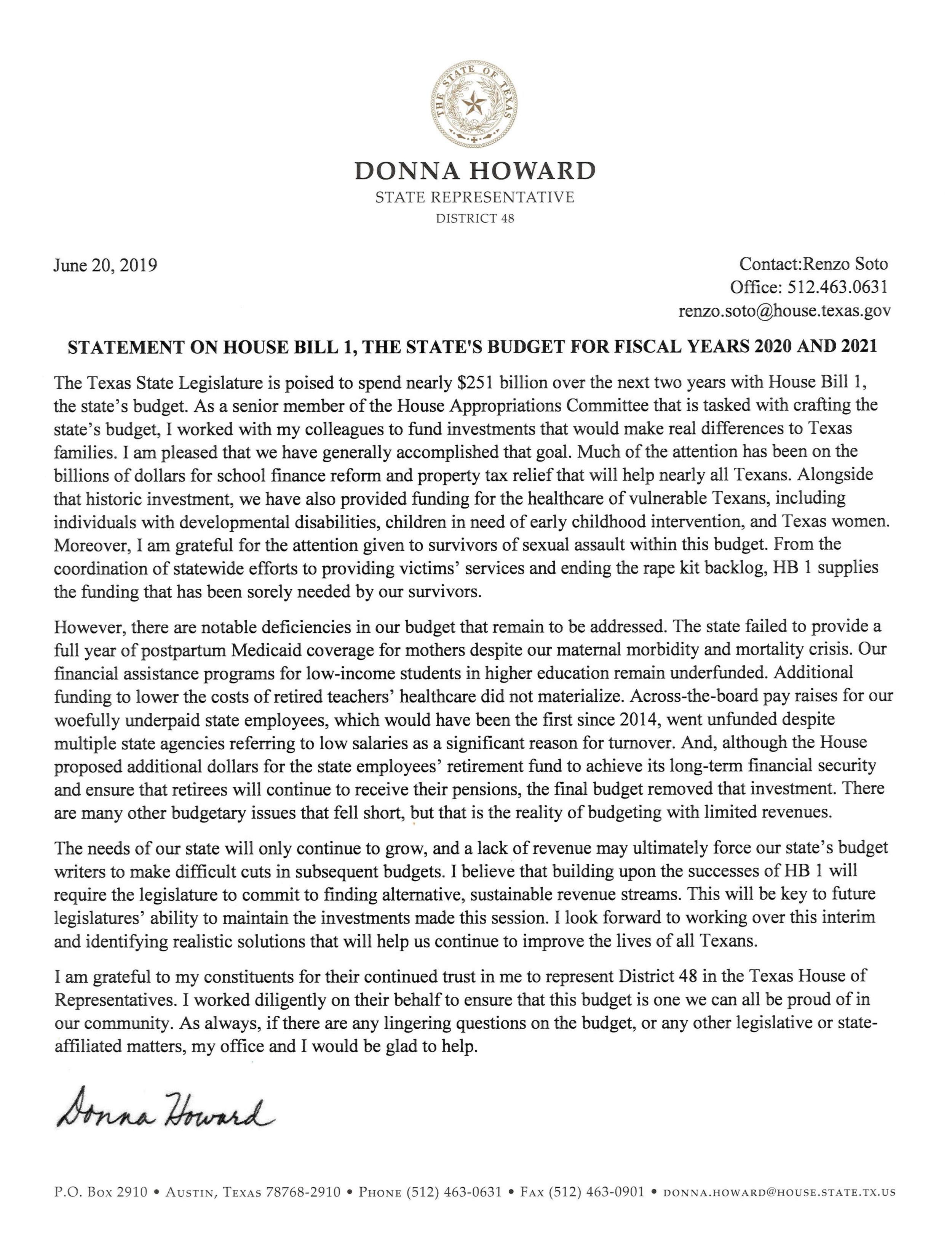 Howard Statement on HB 1.jpg.jpg