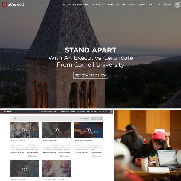 eCornell; an example of Origin's digital experience design work