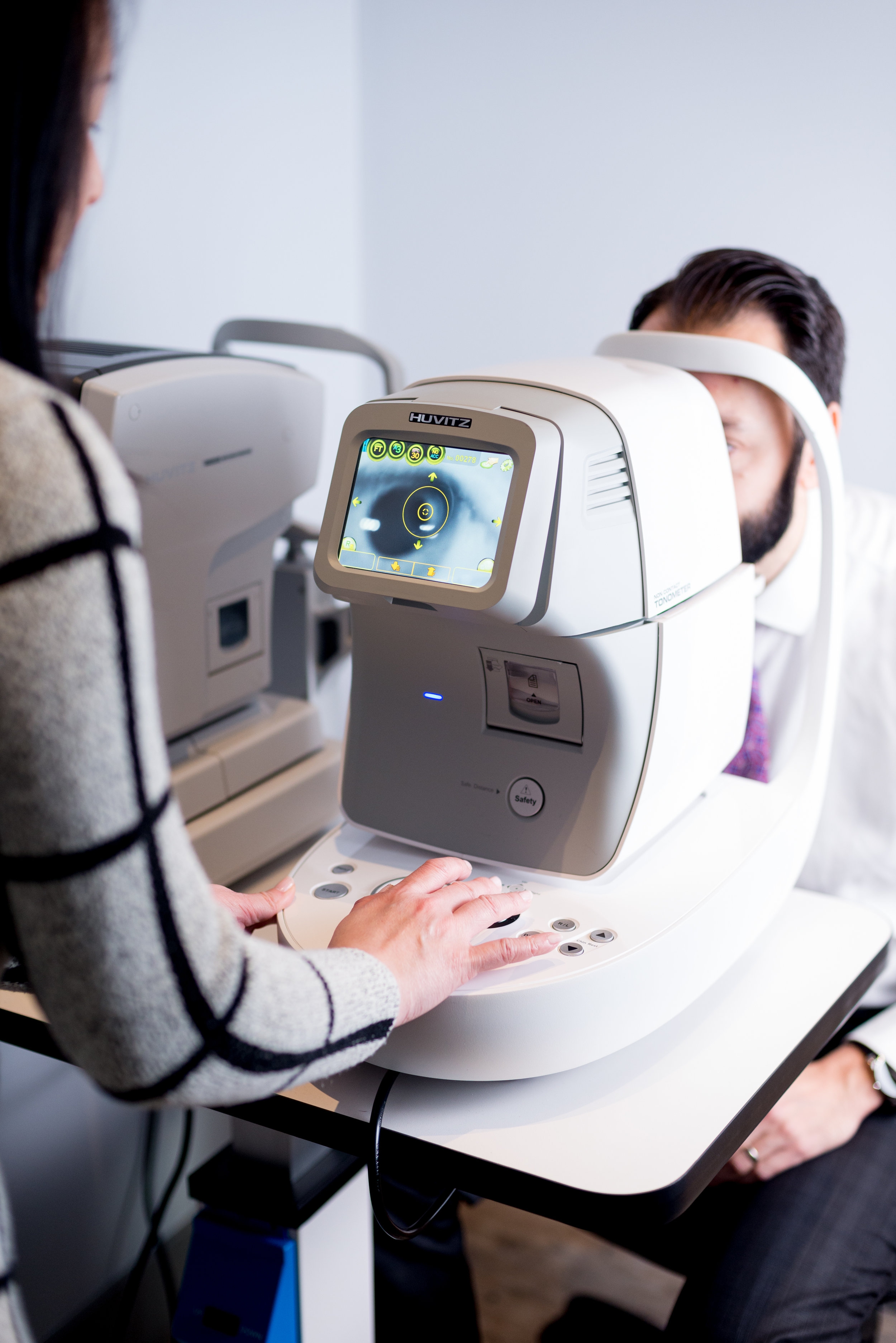 Accurately measuring the pressure inside the eyes is important when evaluating for eye diseases such as glaucoma.