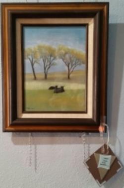 Cattle Resting , pastel by Tonya Wilson 0f Burwell