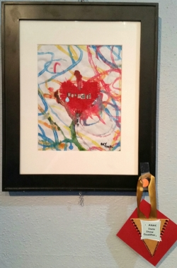 Wounded,  multi media collage by Skylark Thiel of Comstock