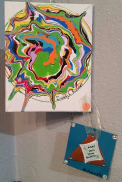 Colors,  an acrylic by Daisy Burson of Ord.