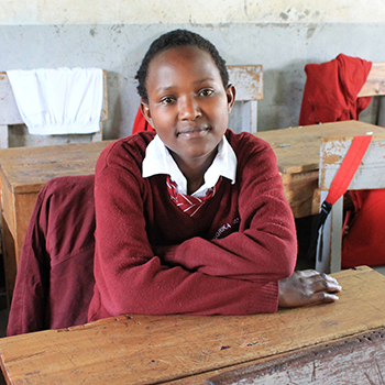 Jedidah at secondary school.