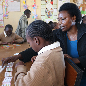 Florence Muguna — Food and Sponsorship Manager   A qualified special-needs teacher, Florence spends her days providing quality education for children with mental disabilities with passion and love.