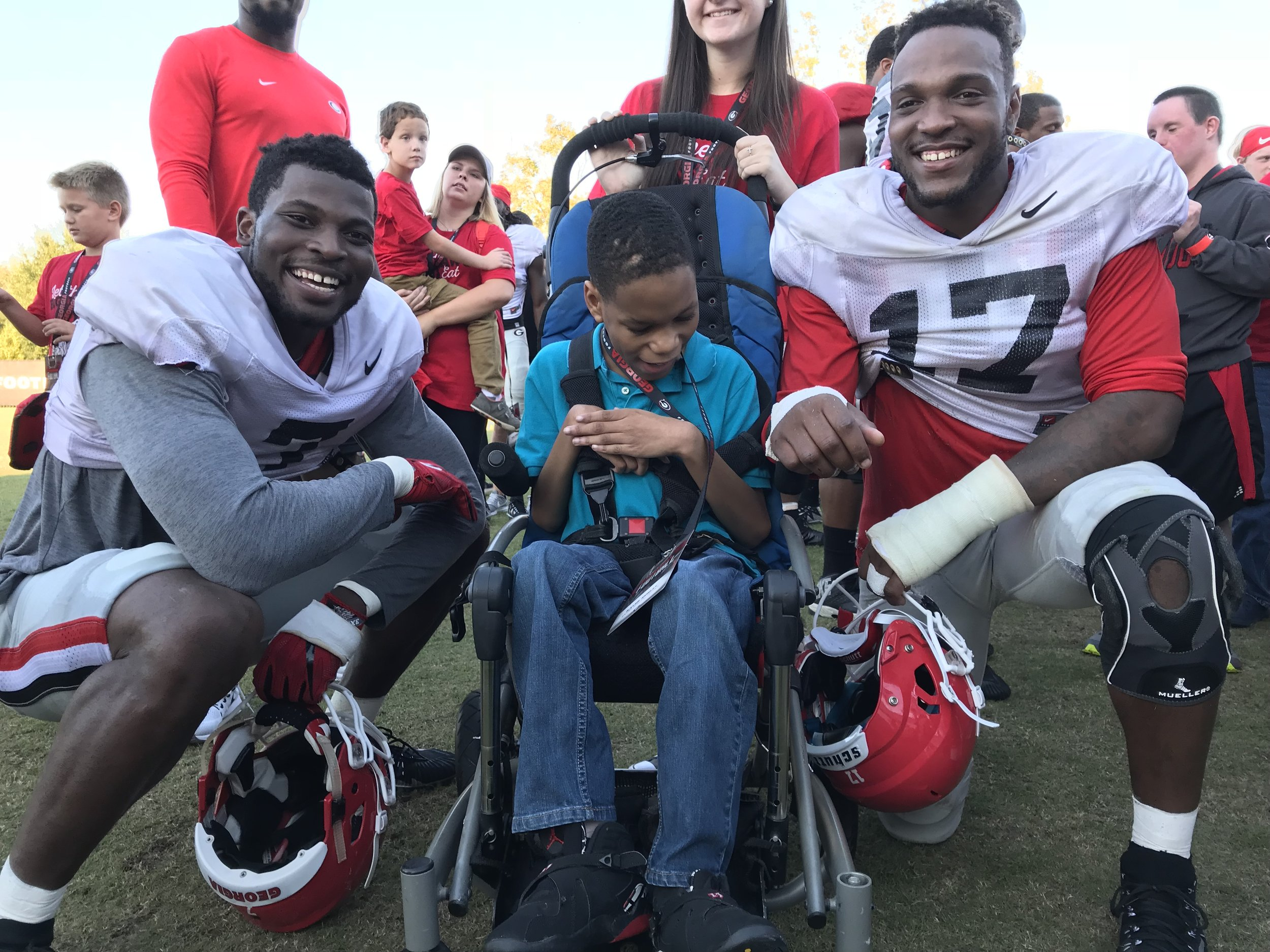ESP Participant Kaleb Nunley with Lorenzo Carter & David Bellamy