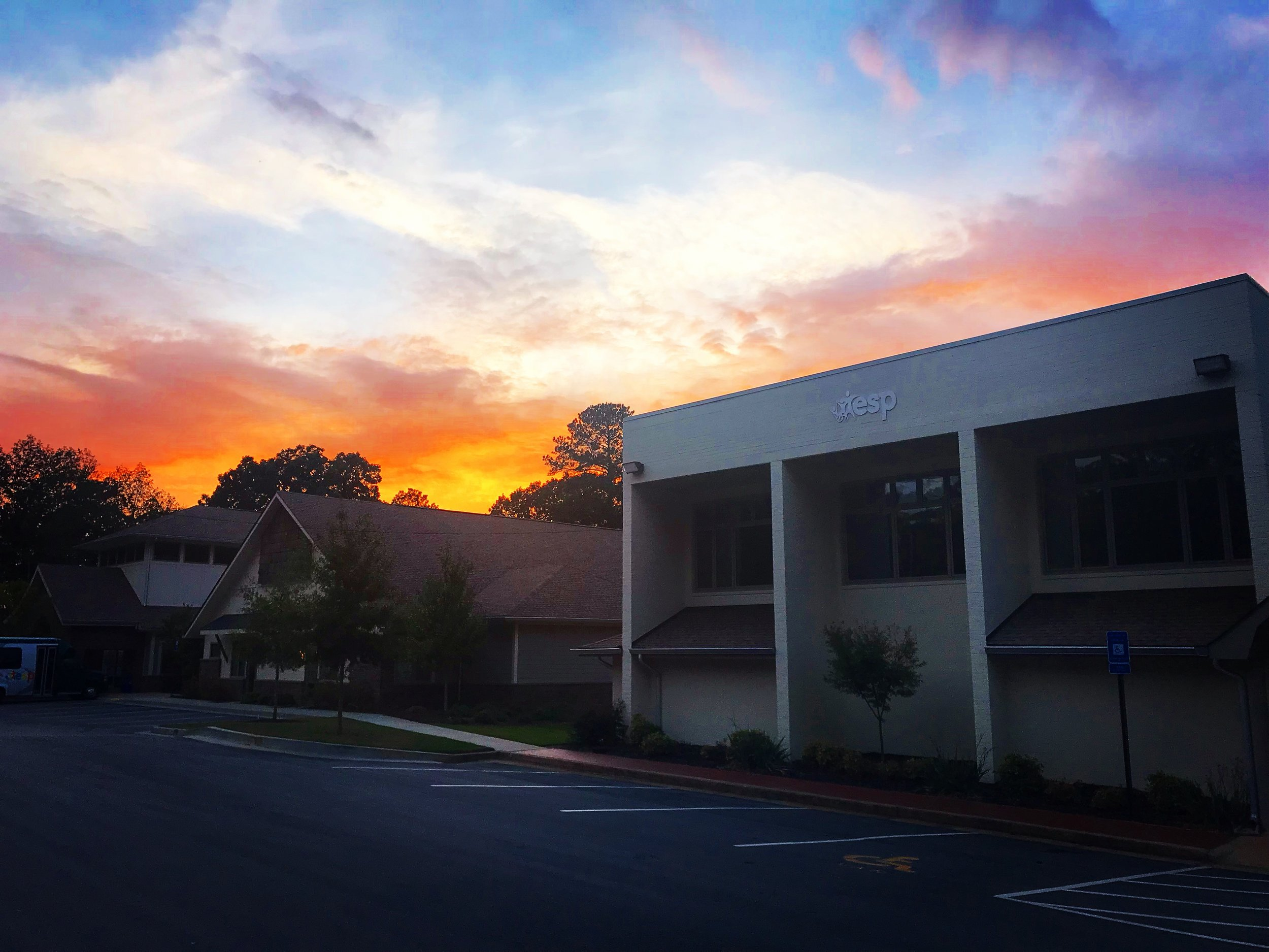 The painted sky last night over the building she built next to the building we built. A perfect pair in fulfilling the mission.