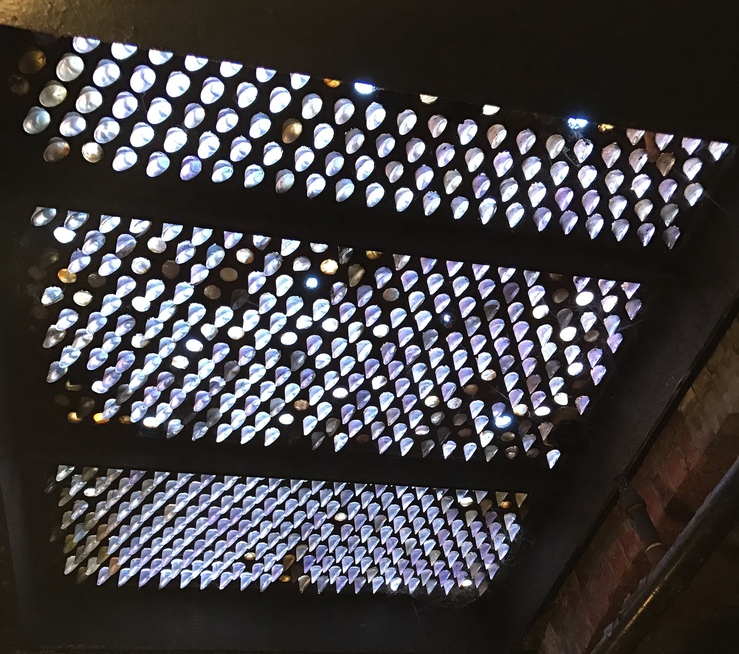 Pioneer Square skylight with original glass prisms.