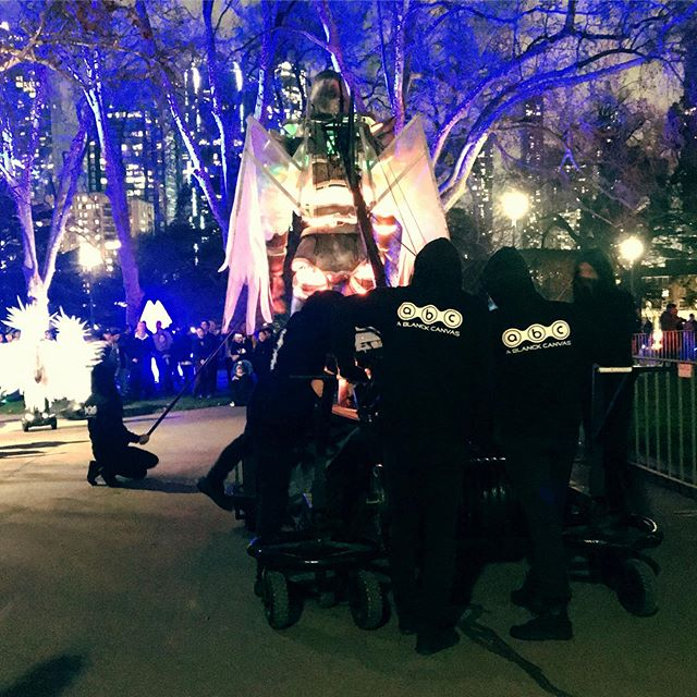 Massive shoutout to @ablanckcanvas, the team behind the White Knight Messenger. Not only a stunning, moving artwork, the team dynamic behind the scenes was incredible: the seamless coordination, clear instructions, active listening. Amazing work, so impressed! #whitenightmelb #whitenight #whitenightreimagined #melbourne