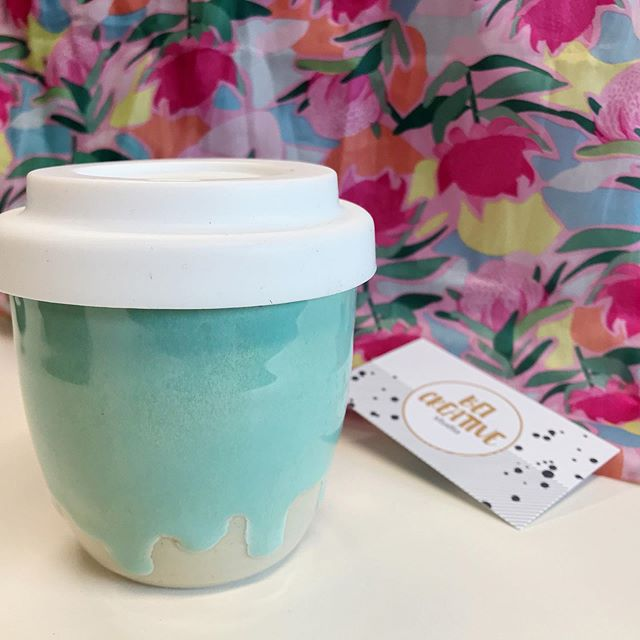 We love useable art! Our gorgeous travel mugs from Warrnambool's @beicreativestudio arrived today, perfectly matching our springtime mood 🌷 Maker, Belinda is heading to @bowerbird.au this November to share her wares - yet another reason to head west . . . #melburnianguideto #designfinds #bowerbirddesignmarket #adelaide #designmarket #beicreative #warrnambool