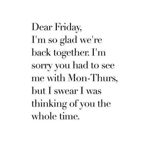 It's .. F R I Y A Y 🙌 . . #friyay #friyayvibes #itstheweekendbitches